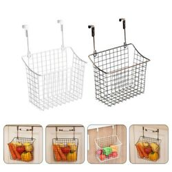 2Pcs Home Basket Hanging Basket Storage Basket for Dorm Storage Home