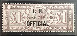 O11 Andpound1 Brown I.r Official Specimen Queen Victoria Stamp Mlh