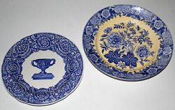 Spode Blue Room Collection Warwick Vase Plate And Jasmine Pasta Serving Bowl