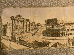 Vintage Woven Tapestry of Rome 50.5quot; L X 18quot; W