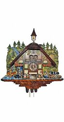 Cuckoo Clock Black Forest House With Moving Wood Chopper An.. Sc 8tmt 1020/9 New