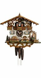Cuckoo Clock Black Forest House With Moving Beer Drinkers An.. Ho 664t Zenzi New