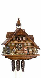 Cuckoo Clock Black Forest House Clockmakerand039s Workshop With Movin.. Ho 86206t New