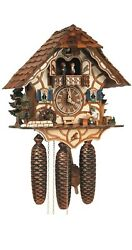 Cuckoo Clock Black Forest House With Moving Beer Drinker An.. Sc 8tmt 6413/9 New