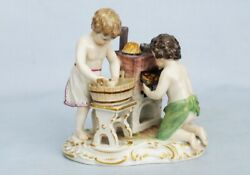 Very Rare 19th Ct. Meissen Porcelain Figural Group Two Child Baker S 170 Nr.