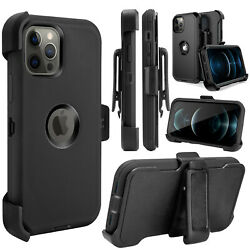 For Iphone 12 Pro 12 Pro Max Heavy Duty Shockproof Defender Case Cover+belt Clip