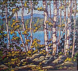 Original Oil Painting Landscape Group Of Seven Style By A Great Canadian Artist