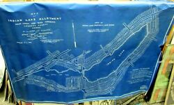1927 - Original Map Of Indian Lake Property Allotment - Luzerne County Penna.