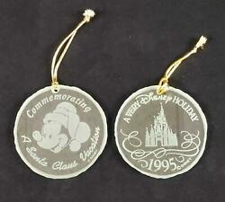 Disney Christmas Glass Ornaments Lot Of Two