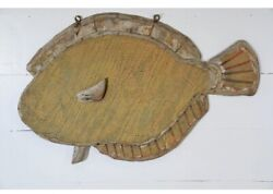 Antique Trade Sign Of Fish From Old Nc Bait Shop Folk Art Beach House Cabin