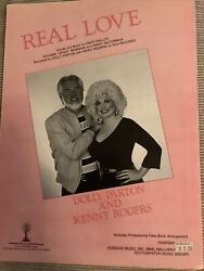 Dolly Parton And Kenny Rogers Sheet Music Andldquoreal Loveandrdquo 1984 Mint Condition