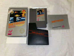 Metroid Nintendo Nes Complete In Box Cib Great Condition 1st Print Gorgeous