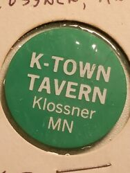 Unique K-town Tavern Token From Klosser Mn - 5 Melted In Tc-162154