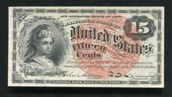 Fr. 1267 15 Cents Fourth Issue Fractional Currency Note Gem Uncirculated