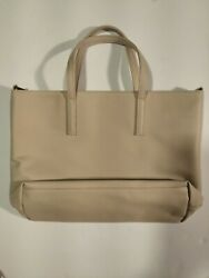Lord And Taylor Vintage Leather Beige Handbag New