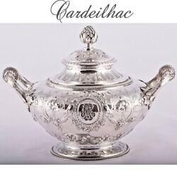 Cardeilhac 19c Antique French Sterling Silver Sugar Bowl Moe Mde Neo Classical