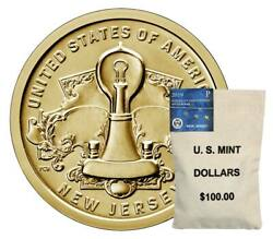 P D 100 Us Mint Bags 2019 New Jersey American Innovation Dollars Mint 200 Face