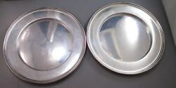 Vintage Sterling Silver 6 Plates Lot Of 2 117 Grams 1920-1945 M. Fred Hirsch Co