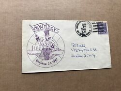 US 1947 Naval Cover Uncle Sam Navy Day Cachet Hawaii Fleet FPO $9.99
