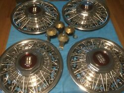 15 Inch Wire Wheel Covers Vtg Car 1981-86 Ford Ltd Mercury Oem Hubcaps Nos