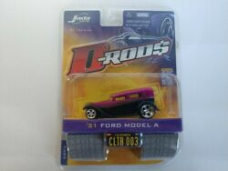 2005 wave 1 Jada Toys D-rods '31 1931 Ford Model A Black And Purple 164 Scale