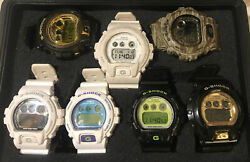 Casio G-shock Gdx/dw 6900's/lot Of 7 Watches/7 Tins/ 1 Water Resistant Case