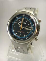 Seiko 5 Sports Speed timer Barnacle 7015-8000 1970s Antique Watch Excellent
