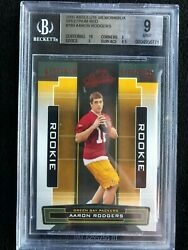 2005 Playoff Absolute Spectrum Red Aaron Rodgers Rc 9 Memorabilia W/ Sub 10