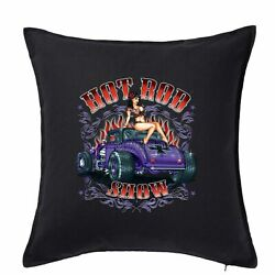 Hot Rod 58 Show Girl Cushion Pillow Cover Car Motorhome Man Cave American 103