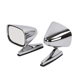 1968 1969 1970 Dodge Charger Chrome Bullet Style Universal Sport Mirrors