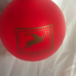 Usps Postal Reindeer Red Glass Ornament 33 Cent Stamp Series American Greetings
