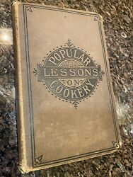 1880 Antique Cookery Book Vintage Cook Book