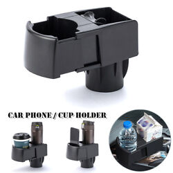 Car Scalable Universal Dual Cup Holder Drink Ashtray Cell Phone Bracket Storage