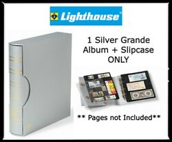 New Lighthouse Grande Silver Album + Slipcase Banknotes Coins Collections 4 Ring