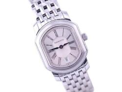 Mark Coupe Ss Date Silver Dial Quartz Watch Used Excellent
