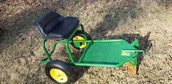 Extremely Rare Made In Usa John Deere 2 Wheel Sulky Sit-on W/new Tires And Paint