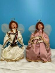 Byers Choice Carolers Port Oand039 Call Exclusive Elegant Angels W/hangtags 1987