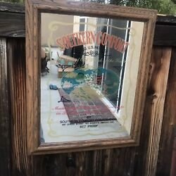 Vintage Southern Comfort Whiskey Mirror Advertising Sign England Man Cave Decor