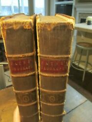 C1792 System Of Geography History Books Rare John Payne W/engravings Antique Old