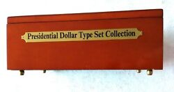 Presidential Dollar Type Set Collection Case And 24k Gold Plated Coins - Fm