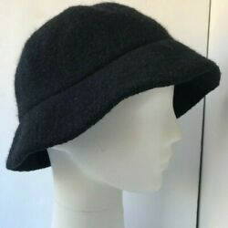 Betmar New York 100% Wool Black Bucket Hat Women#x27;s Winter Hat One Size $10.99