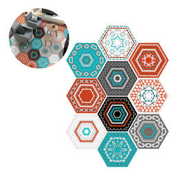 10 pcs Floor Stickers Hexagonal Removable Tile Stickers Wall Sticker for Hotel