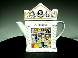 Wade English Life Teapots Antiques Shop Vtg Made In England Near Mint