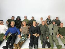 Century 21 Toys/ Gi Joes Lot 14 Marine Seal Army Lot Of Extras Accessories