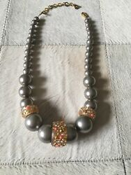 Alexis Bittar Lucite Crystal Beaded Necklace