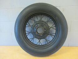 Wire Wheel 19 Model A Ford 5 On 5 1/2 Bolt Circle Antique Firestone Tire
