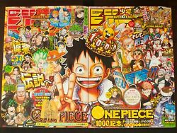 Shonen Jump 2021 3-4 And 5-6 One Piece Episode 999 And 1000 W/ Special Poster Used