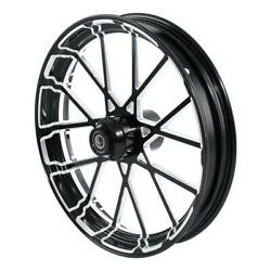 30'' Cnc Front Wheel Rim Hub Fit For Harley Touring Road King Street Glide 08-20