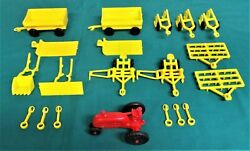 Vintage Marx Farm Playset Plastic Tractor With Accessory