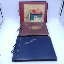 Vintage 1940's Photo Albums Lot Of 3 - Family, Wedding, Vacation